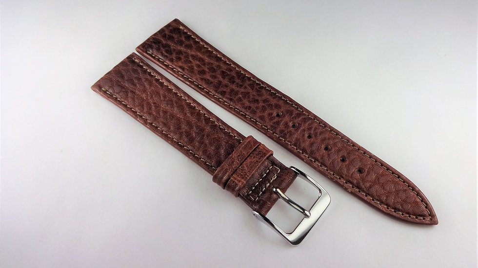 Replacement 19mm Brown Genuine Pampa Leather