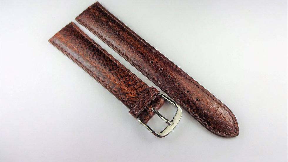 Replacement 18mm Brown Genuine Salmon
