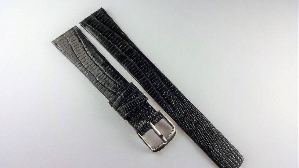Seiko 15mm Gray Genuine Allig-Lizard