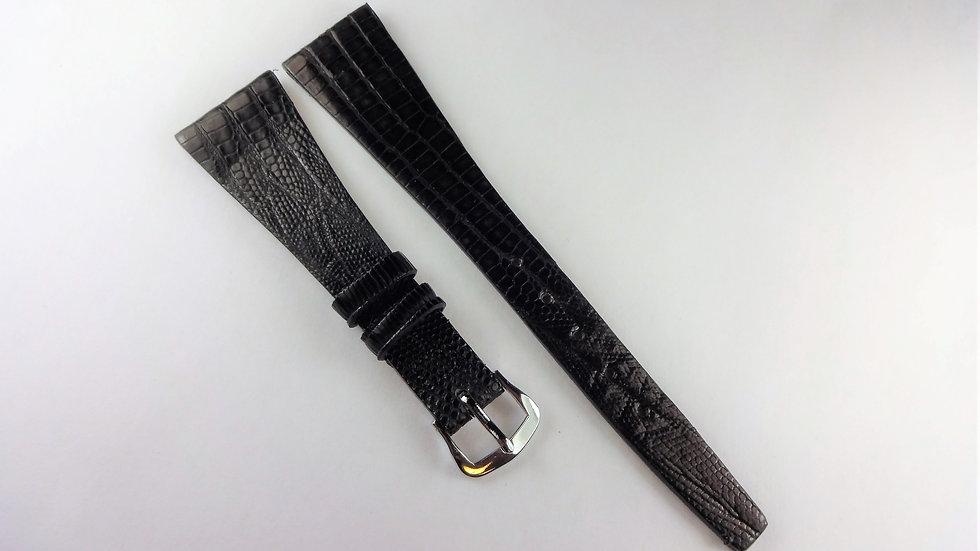 Replacement 18mm Black Genuine Alligator Lizard