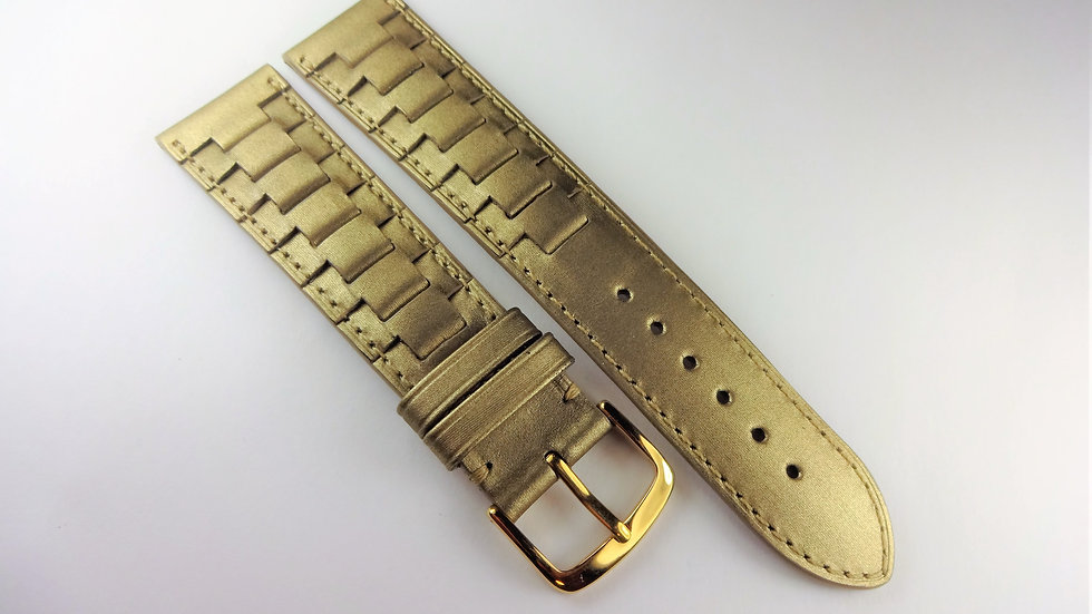Replacement Hadley-Roma 20mm Gold Genuine Leather