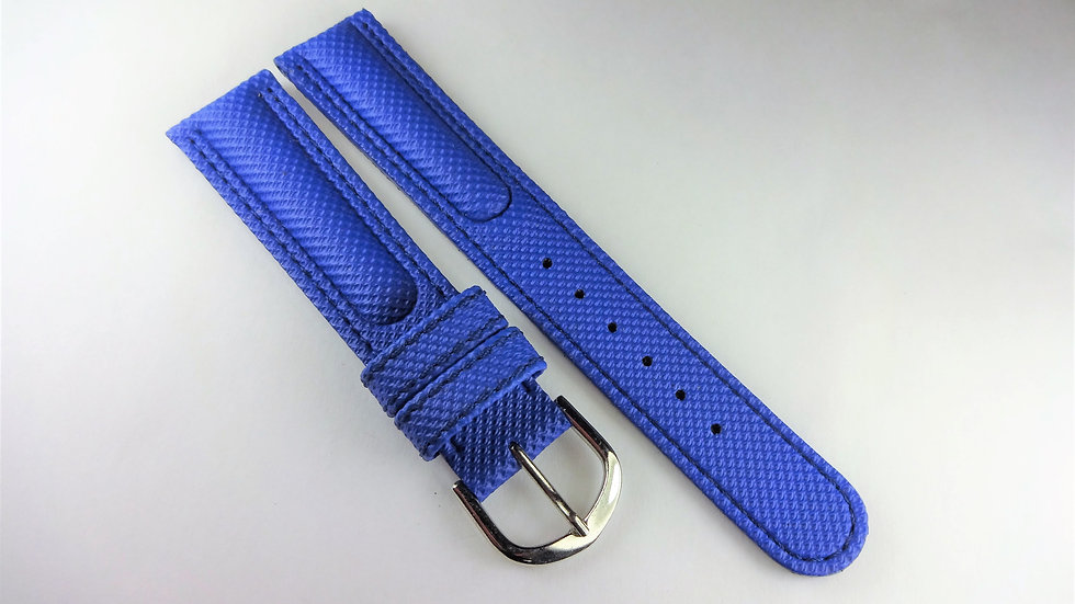 Replacement 18mm Blue Rubberized Leather