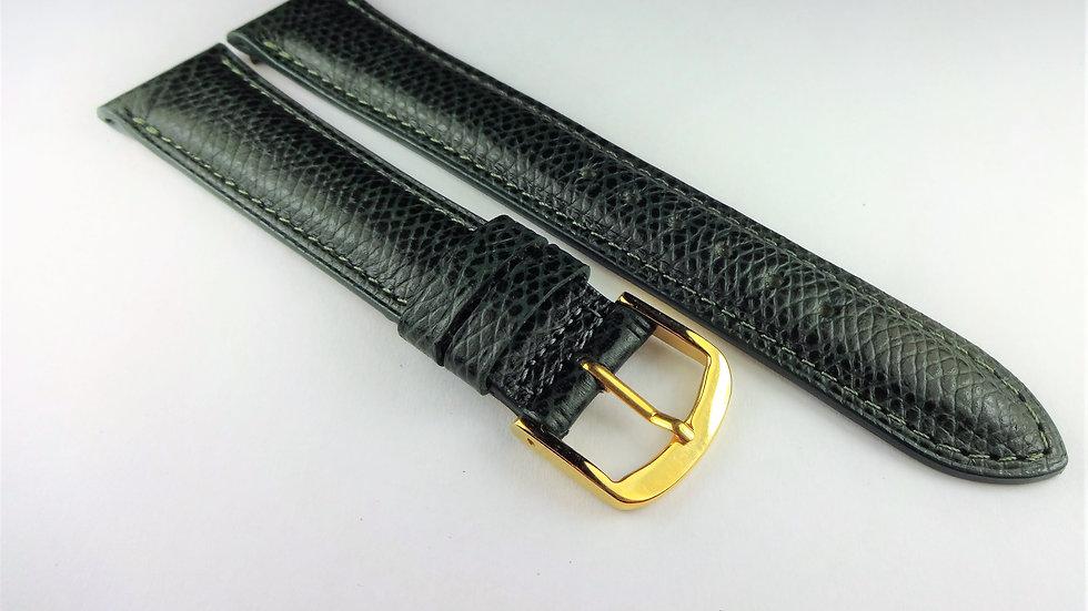 Cyma 18mm Green Genuine Safiano Leather