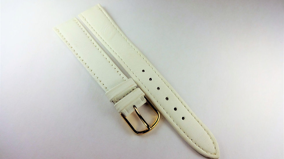 Replacement 16mm White Genuine Leather