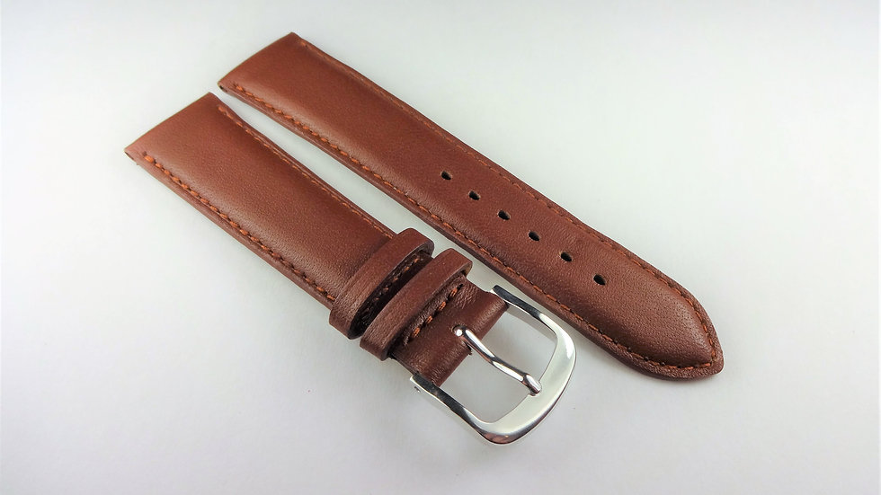 Replacement Box Leather 18mm Brown Short