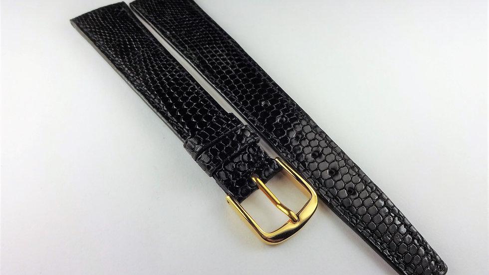 Gucci 17R Black Lizard Grain