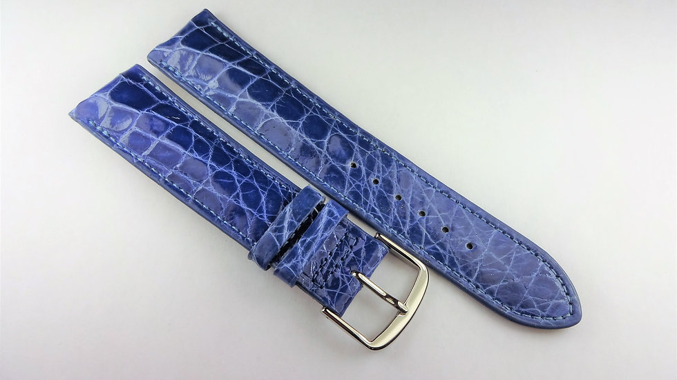 Paul Picot 20mm Blue Genuine Select Crocodile