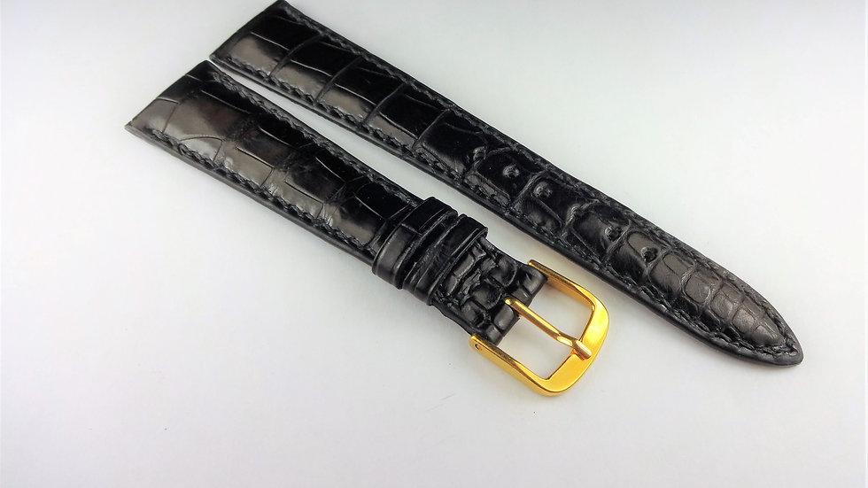 Replacement 19mm Black Genuine Louisiana Alligator