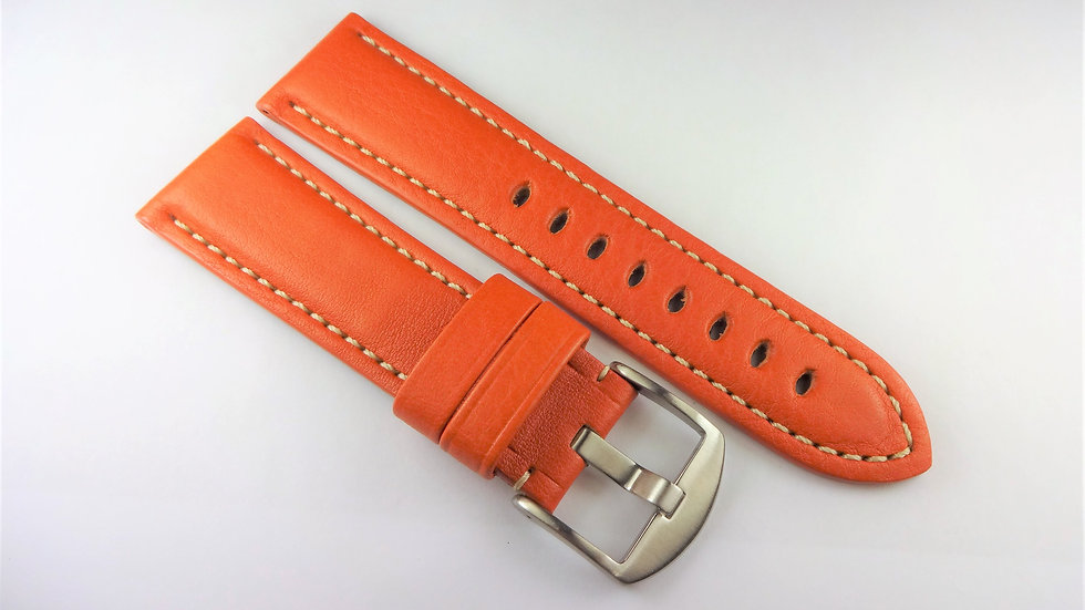 Replacement Hadley-Roma for Panerai 24mm Tan Genuine Leather