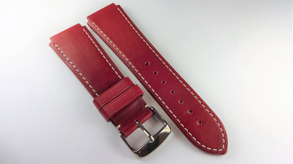 Replacement For Technomarine 20mm Red Genuine Leather