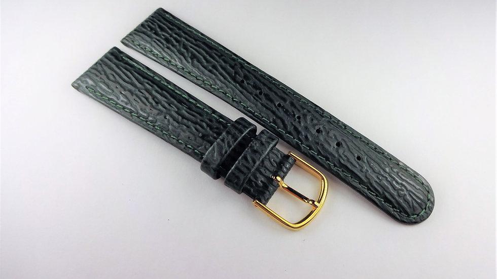Hadley-Roma 19mm Green Genuine Leather Shark Grain