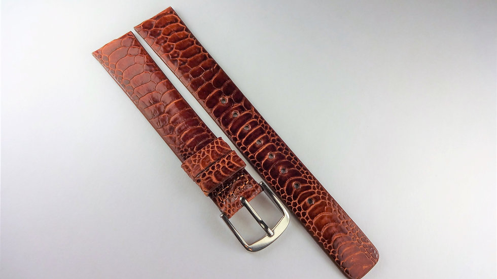 Seiko 15mm Brown Genuine Exotic Leather