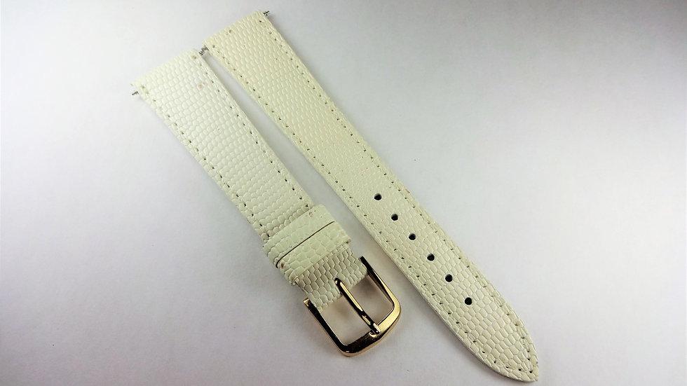 Replacement 18mm White Genuine Leather Lizard Grain