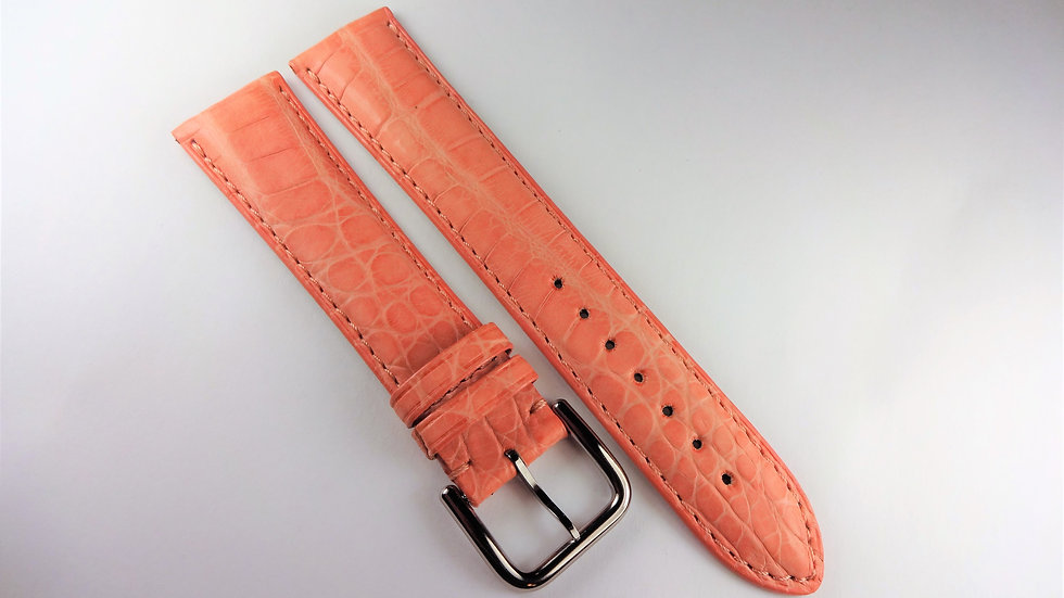 Replacement 20mm Pink Genuine Crocodile