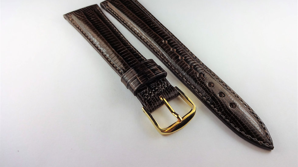 Hamilton 20mm Brown Genuine Leather Lizard Grain