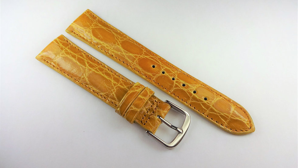 Replacement 19mm Yellow Genuine Crocodile