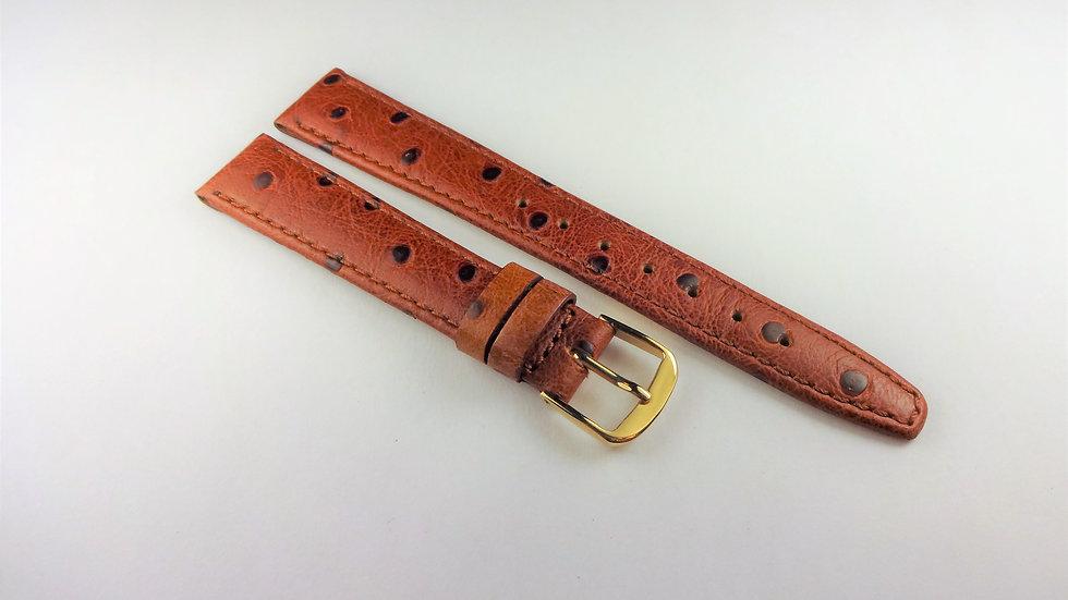 Wittnauer Brown Calfskin Ostrich Grain Leather 14mm