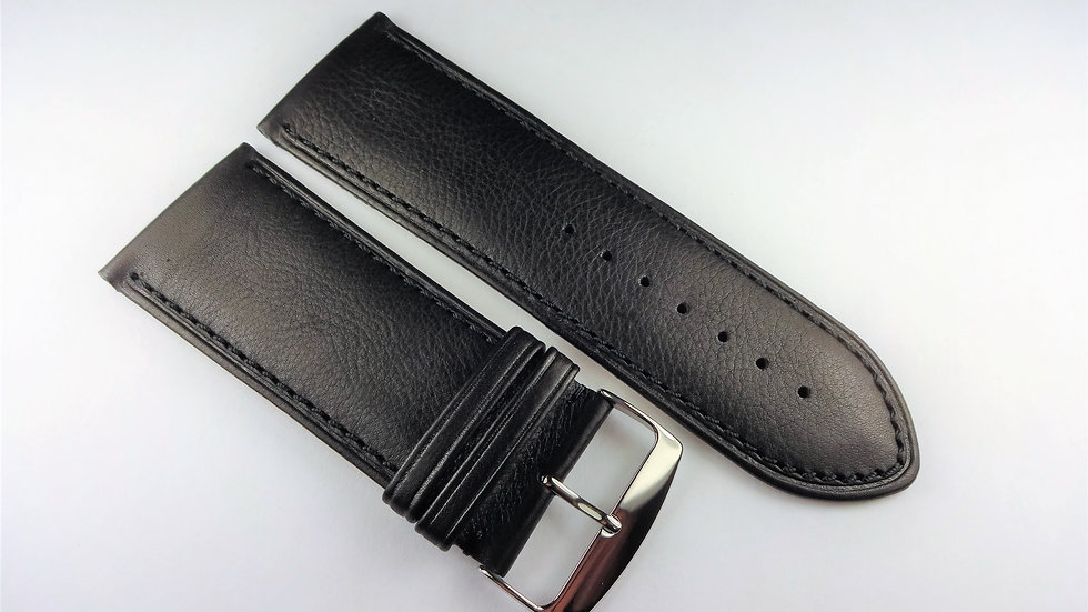 Replacement 30mm Black Genuine Calfskin Leather