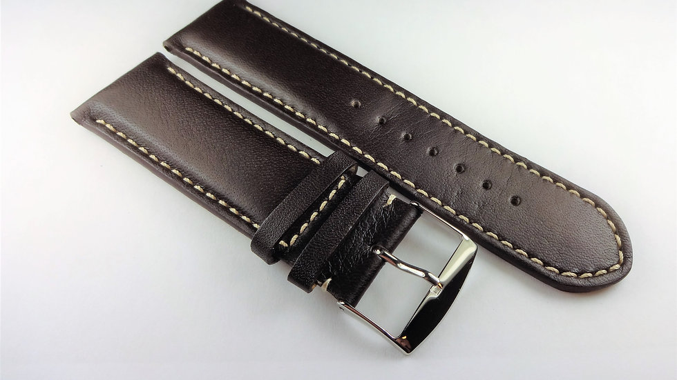 Replacement Cowhide Leather 26mm Dark Brown