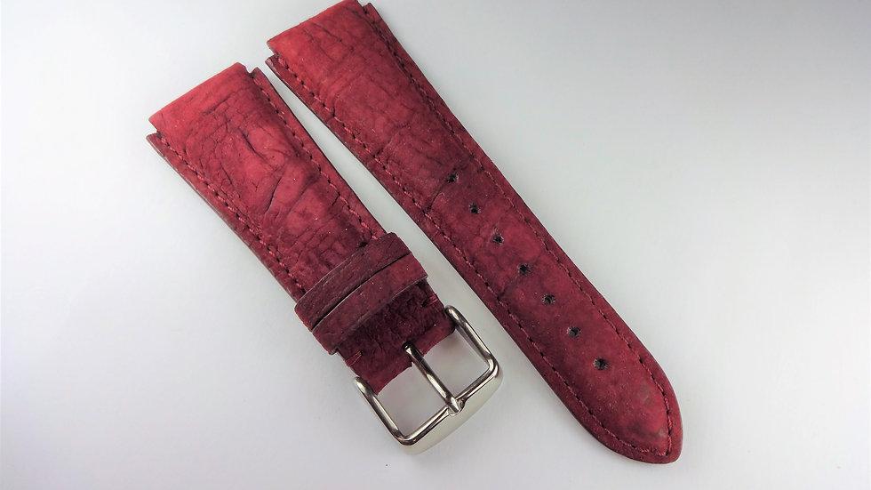 Replacement For Technomarine 20mm Purple Wine Genuine Velvet Grained Leather