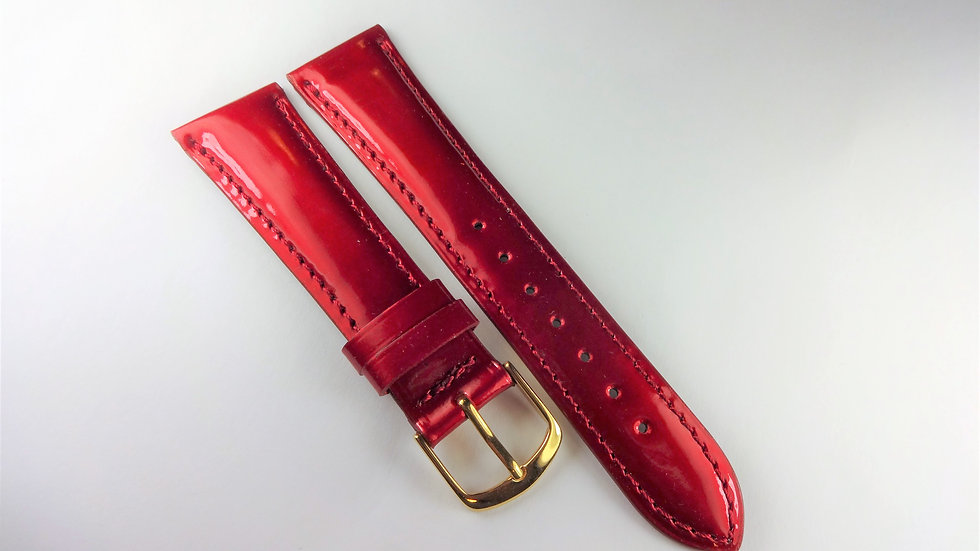 Replacement 20mm Red Genuine Patent Leather