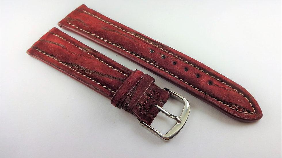 Chagal 20mm Wine Genuine Nubuck Leather
