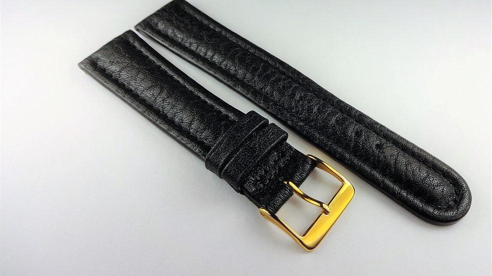 Cole Haan 20mm Black Genuine Leather Buffalo