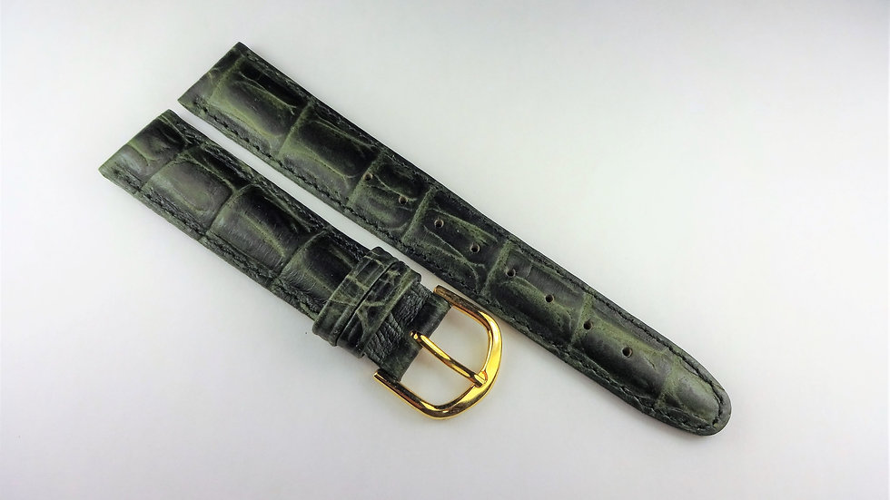 Replacement 17mm Green Alligator Grain