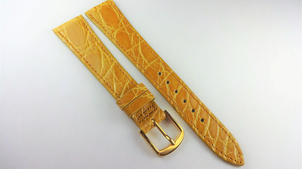 Replacement 18mm Yellow Genuine Selected Crocodile