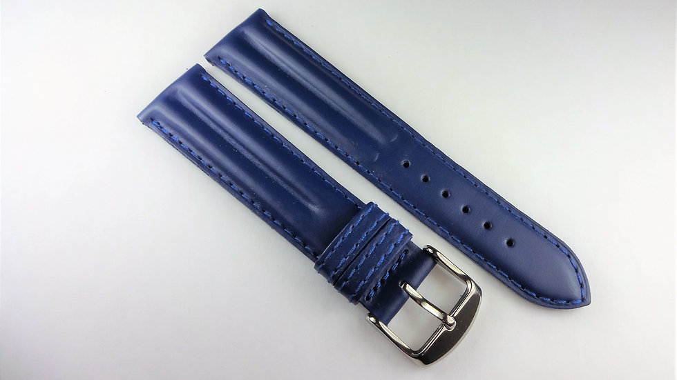 Replacement 20mm Blue Genuine Waterproof Leather