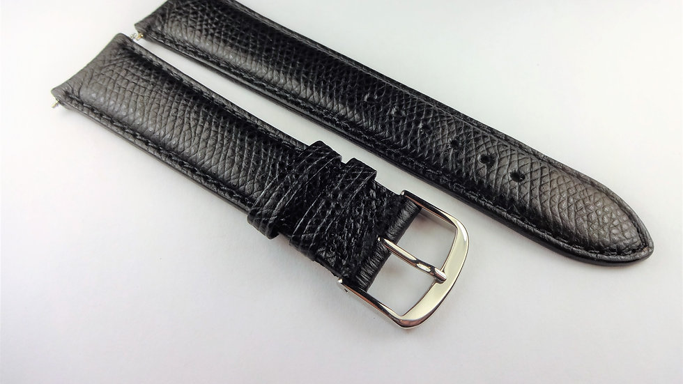 Consul 20mm Black Genuine Safiano Leather