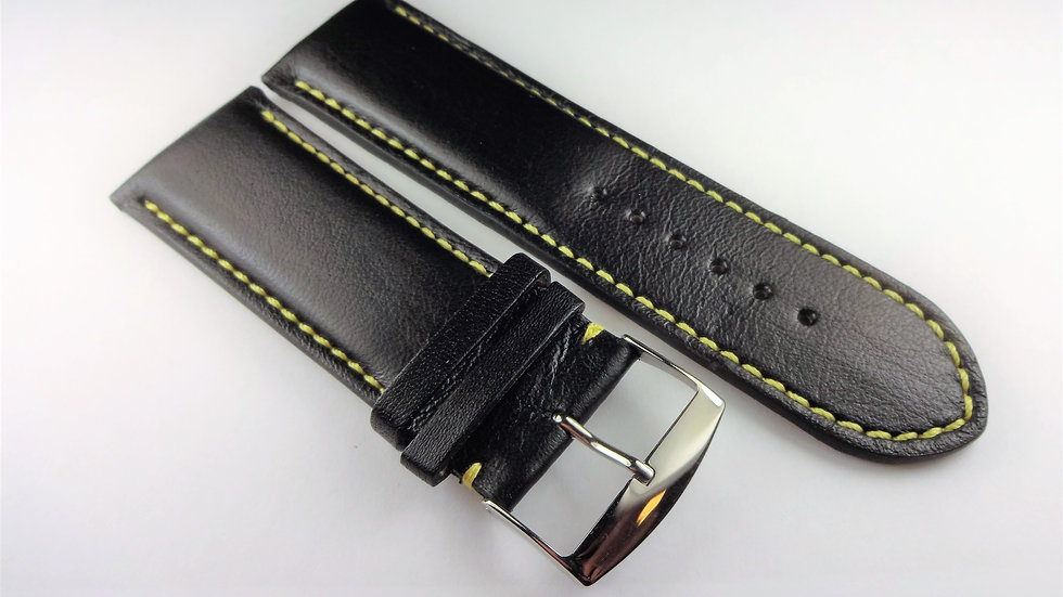 Replacement Cowhide Leather 28mm Black