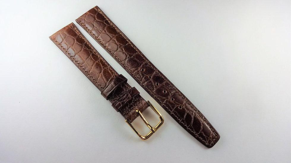 Replacement 18mm Brown Genuine Calfskin Croco Grain