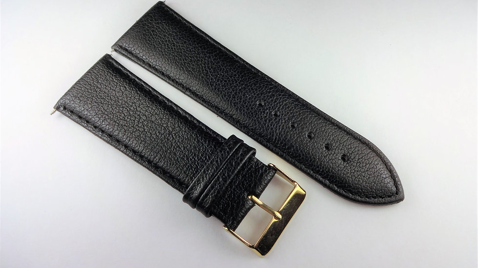 Replacement 28mm Black Genuine Cowhide Leather