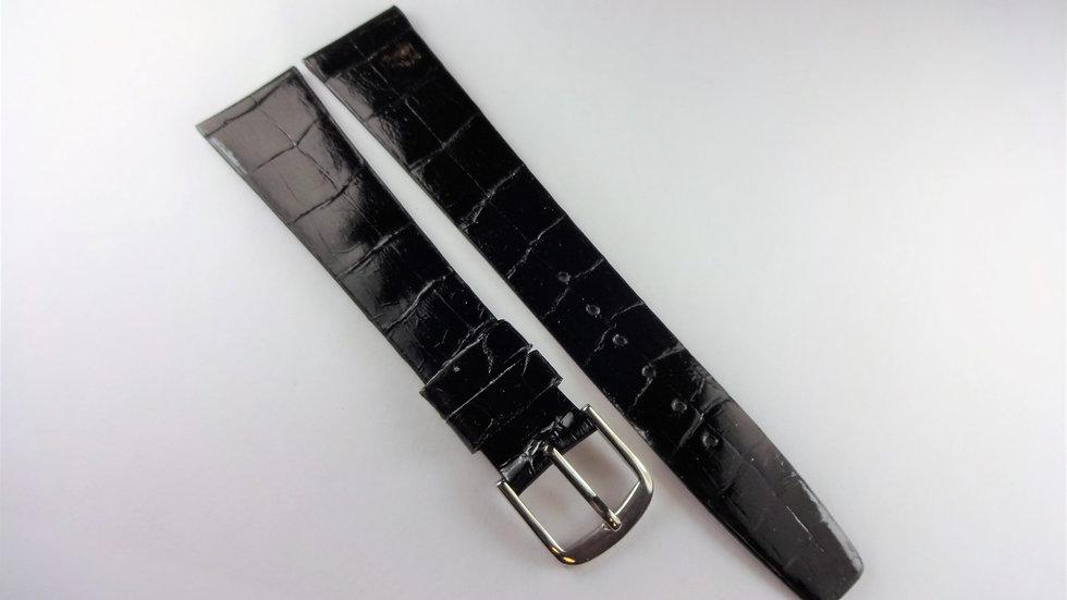 Jean Lassale 18mm Black Genuine Baby Crocodile