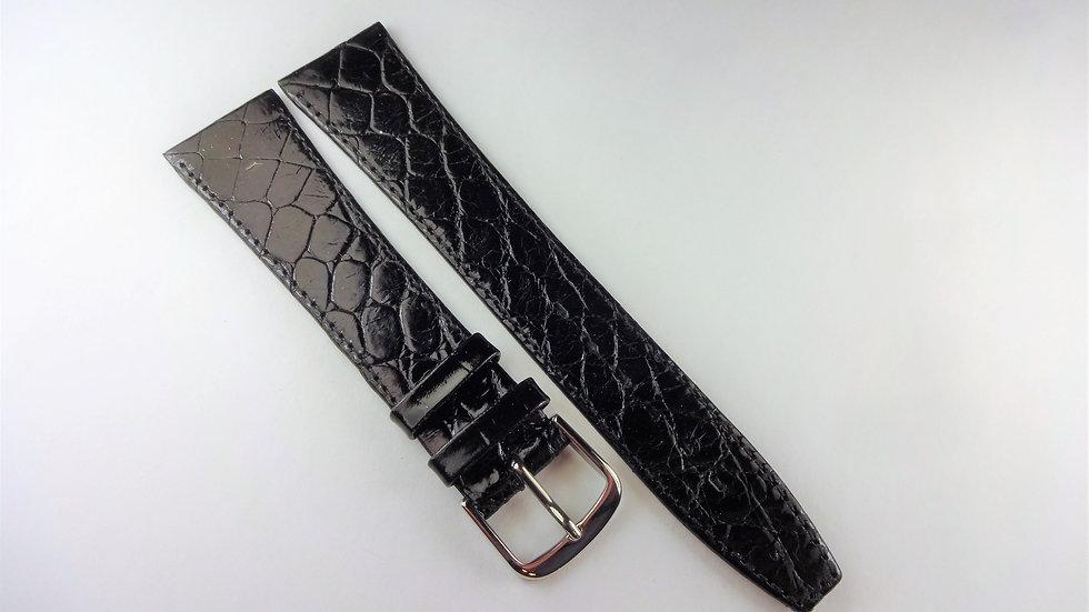 GP 20mm Black Genuine Crocodile