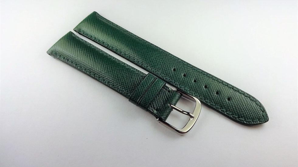 Omega 18mm Green Genuine Safiano Leather