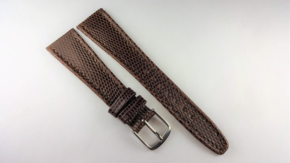 Seiko 20mm Brown Genuine Leather Lizard Grain
