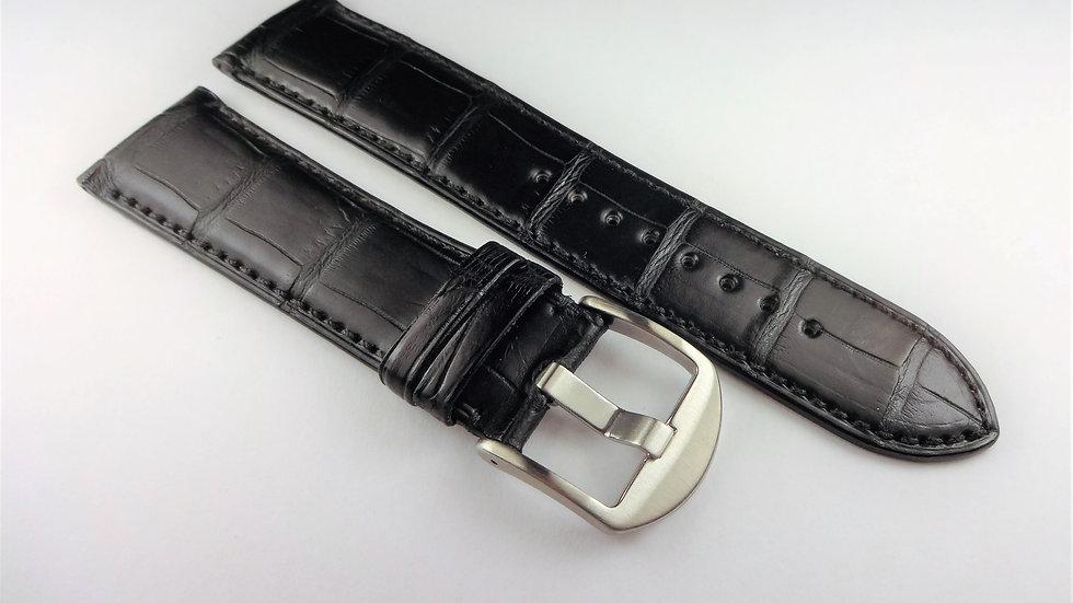 Jean D'Eve 22mm Black Genuine Alligator