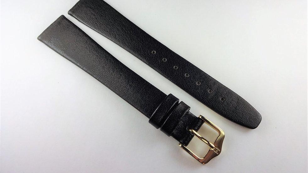 Replacement Hirsch 18mm Black Genuine Calfskin Leather