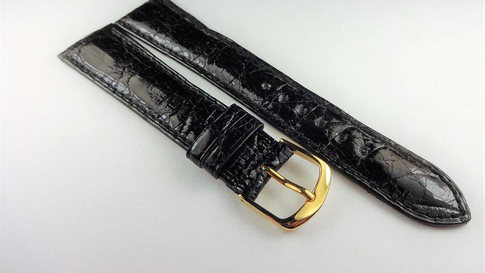 Barneys New York 20mm Black Genuine Crocodile