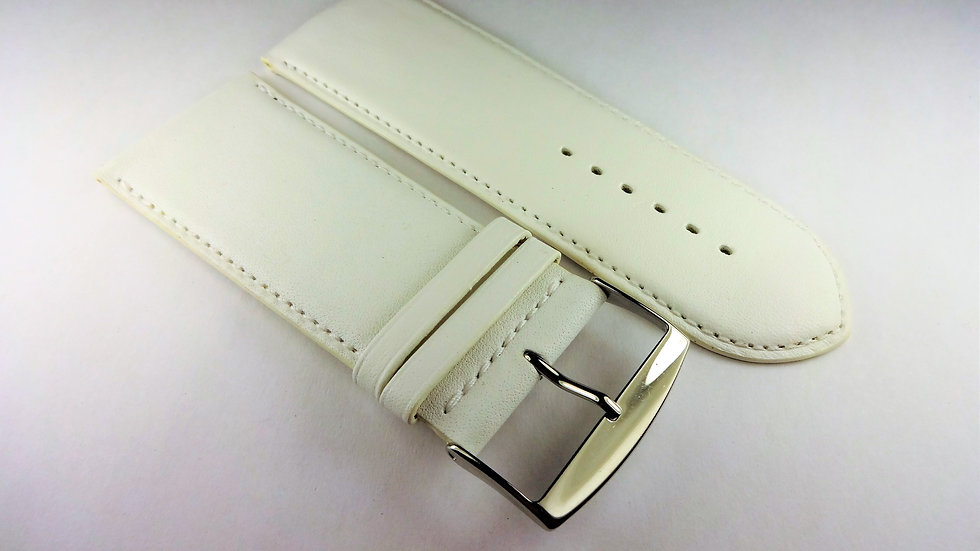 Replacement 32mm White Genuine Box Plain Leather