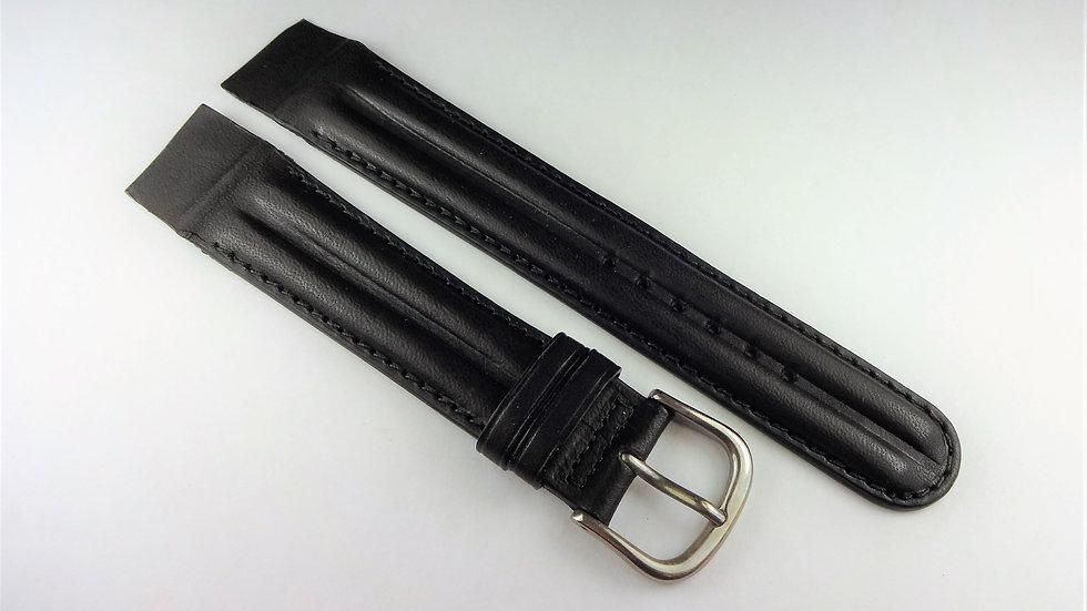 Replacement 19mm Black Genuine Western Leather Waterproof