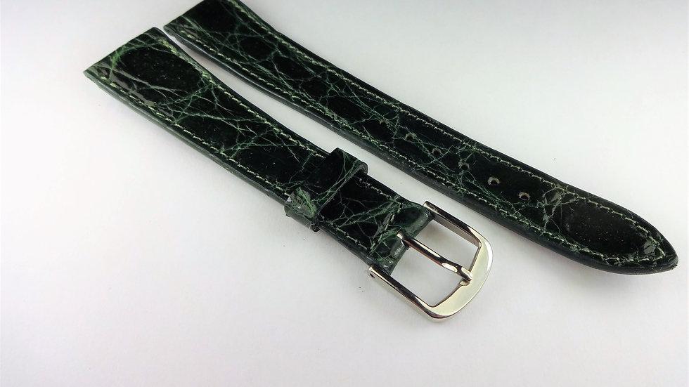 Cyma 18mm Green Genuine Crocodile