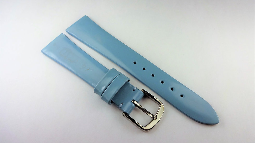 Replacement 17mm Baby Blue Genuine Patent Leather