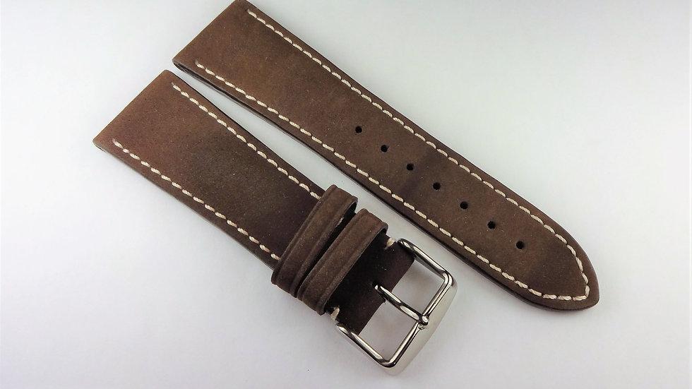 Invicta 24mm Brown Genuine Suede Leather