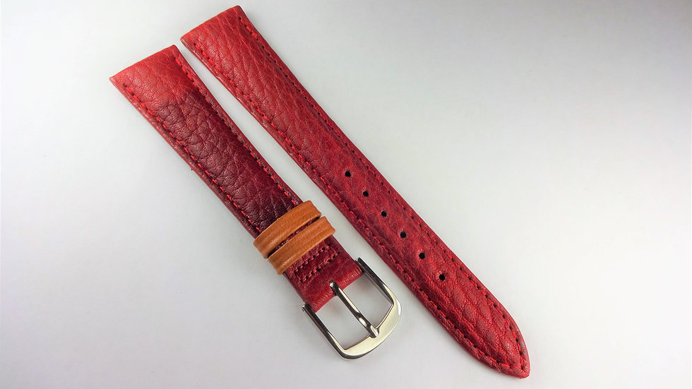 Replacement 18mm Red Genuine Pampa Leather