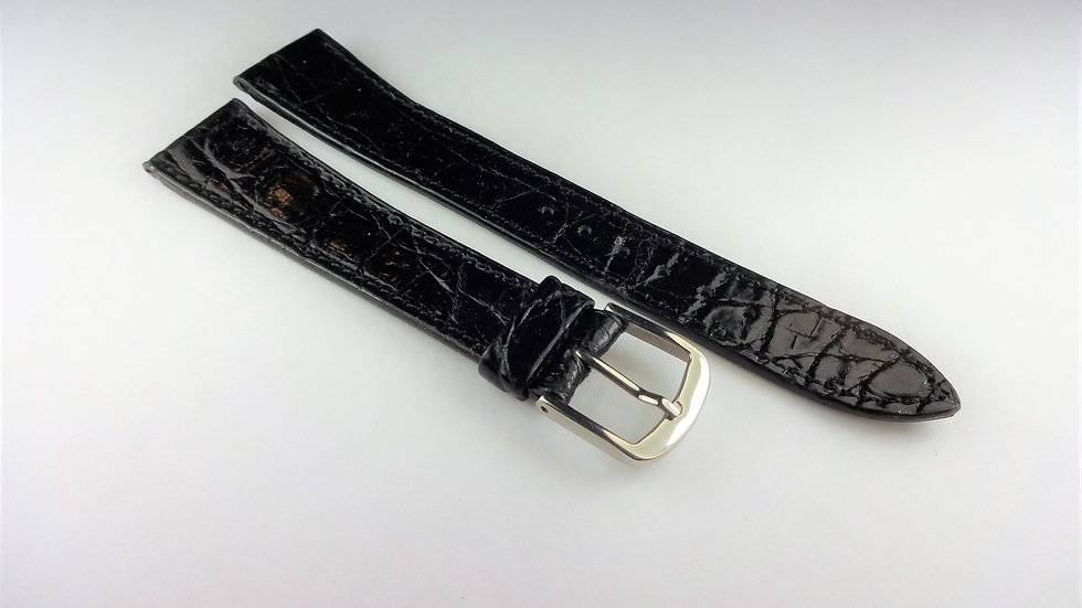 Cyma 18mm Black Genuine Crocodile