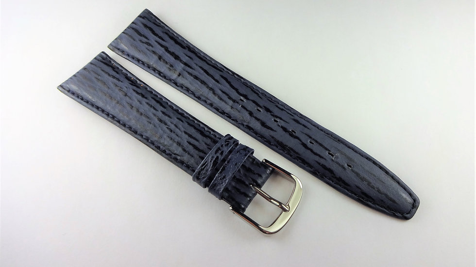 Replacement 19mm Blue Genuine Leather Sharkskin Grain