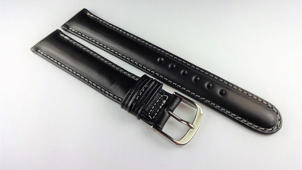 Cerruti 1881 17mm Black Western Leather